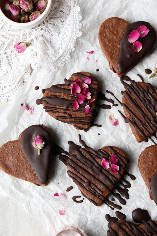 Vegan Chocolate Valentine Cookies