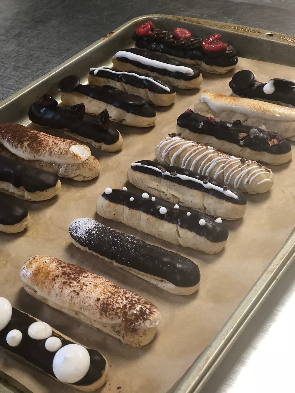 Vegan Chocolate Eclairs