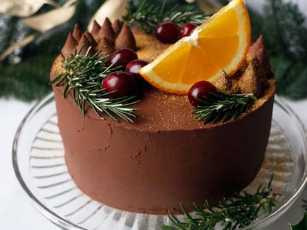 Cranberry, Orange Grain Free, Vegan Christmas Cake