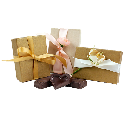 CASE, 3 Piece Luxury Chocolate Party Favor Gift Box (12/CASE)