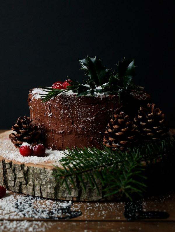 Gluten Free Chocolate Christmas Cake Recipe