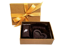 3 Piece Luxury Vegan Artisan Fine Chocolate Assortment Party Favor Gift Box
