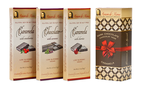 Fruit Aficionado 3 Pack: Currant Chocolate, Cherry Caramela, Cranberry Caramela