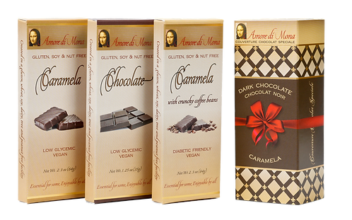 Primo 3 Pack: Chocolate, Caramela, and Caramela with Coffee Beans