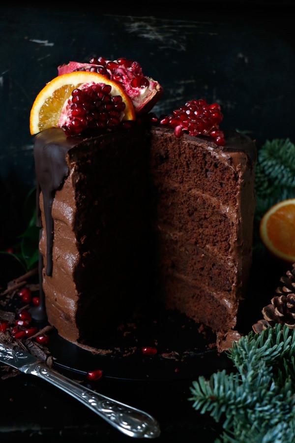Gluten Free Chocoate Orange Christmas Cake