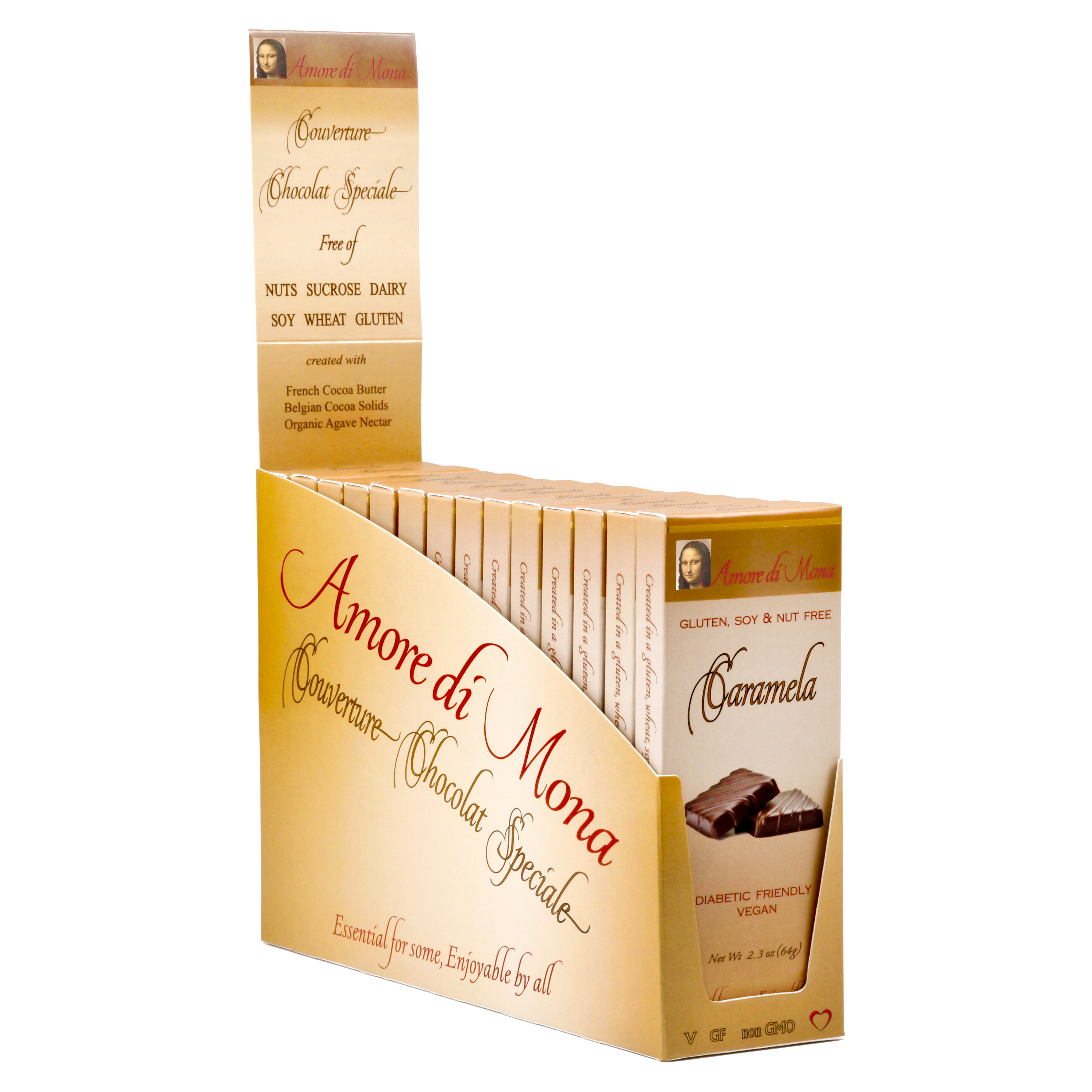 Caramela - Case of 14, 2 5 oz Bars