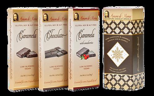 Holiday 3 Pack: Chocolate, Caramela, and Cranberry Caramela