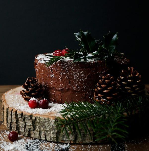Vegan Gluten Free Chocolate Christmas Cake