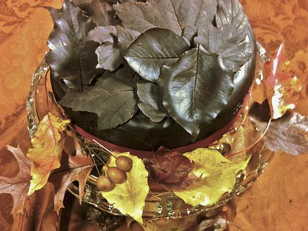 Vegan Chocolate Leaves