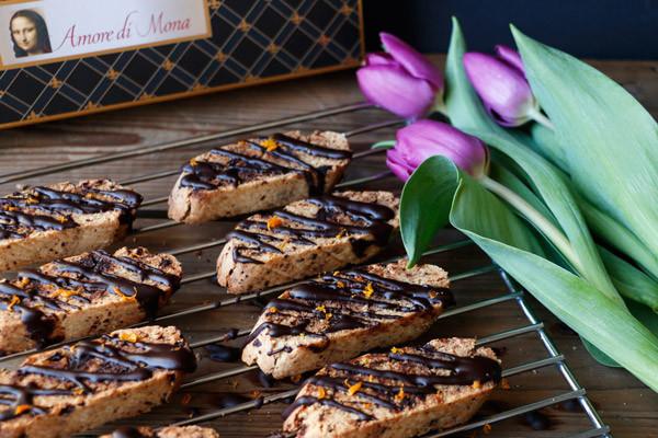 Vegan chocolate biscotti