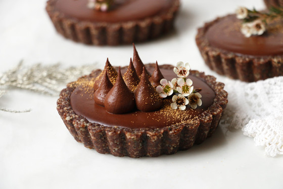 Creamy Orange Chocolate Tarts