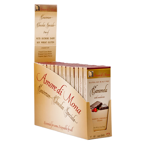 Caramela with Cranberries - Case of 14, 2.5 oz Bars