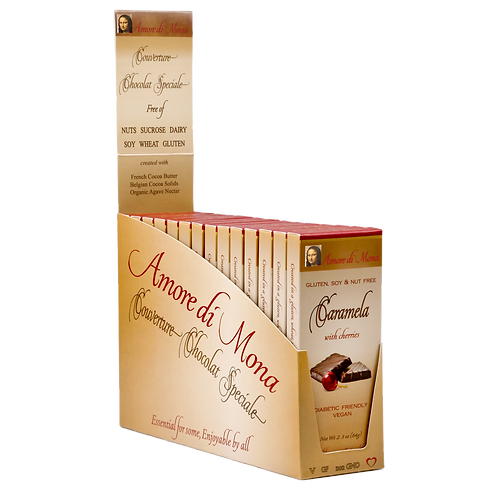 Caramela with Cherries - Case of 14, 2.5 oz Bars