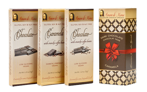 Coffee Connoisseur 3 Pack: Plain & Coffee Chocolate and Coffee Caramela
