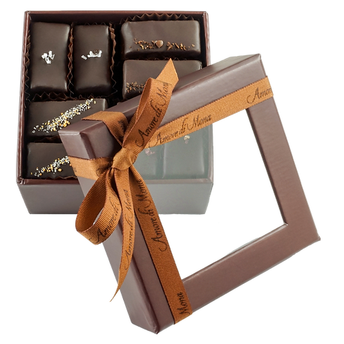 CASE of 6, Mignardise Gift Box - Brown