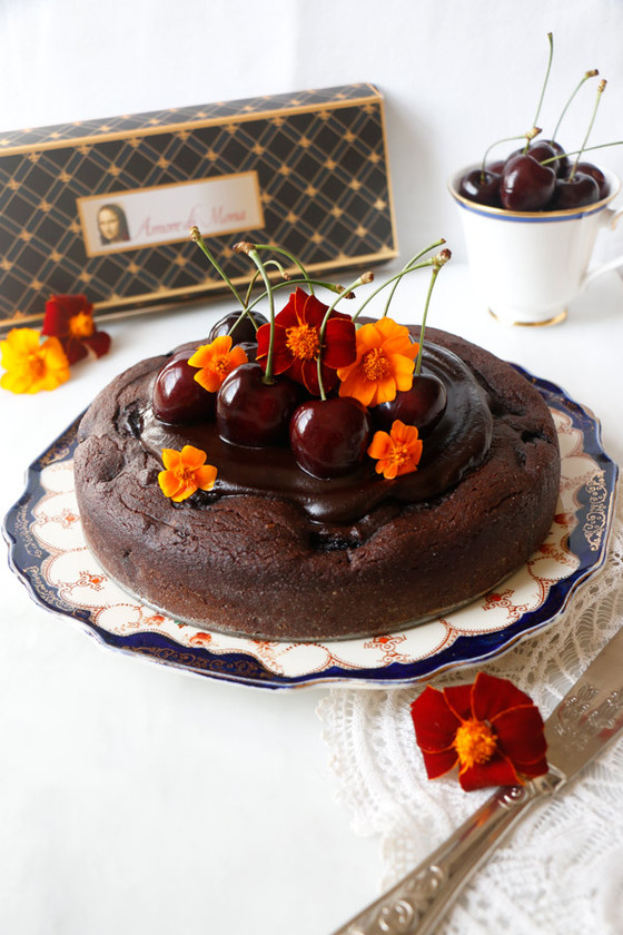 Vegan Cherry Chocolate Torte