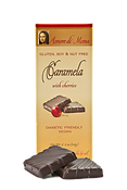 Vegan chocolate caramela with cherries pack