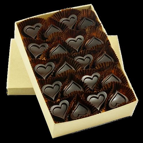 BULK, Dark Chocolate - Box of 80 Individual Pieces