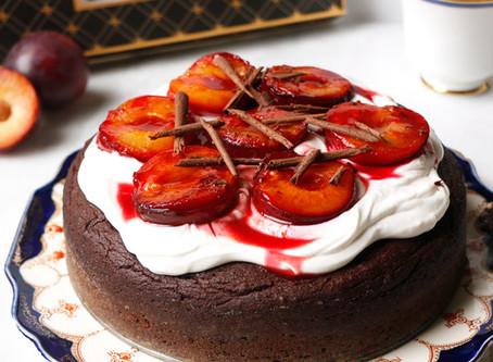 Luscious Chocolate Plum Cake