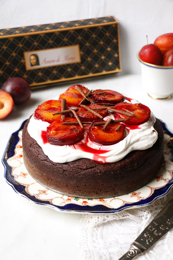 Luscious Chocolate Plum Cake