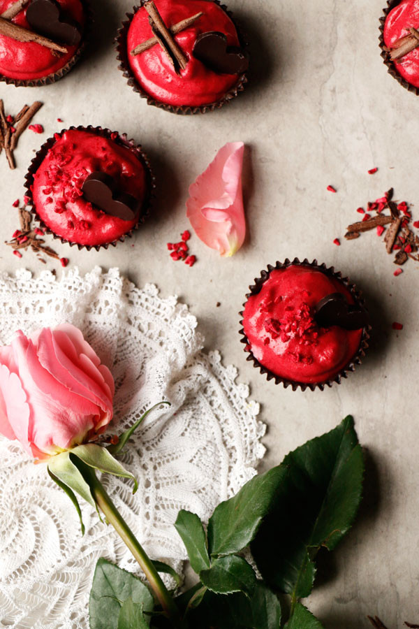 Vegan Raspberry Chocolate Mousse Cups