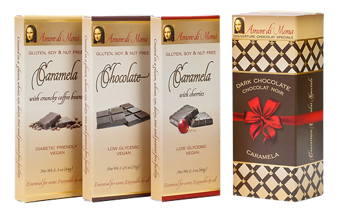 Perfetto 3 Pack: Chocolate, Coffee Caramela, and Cherry Caramela