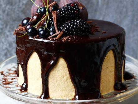 Vegan Chocolate Cake with Chickpea Tahini Frosting