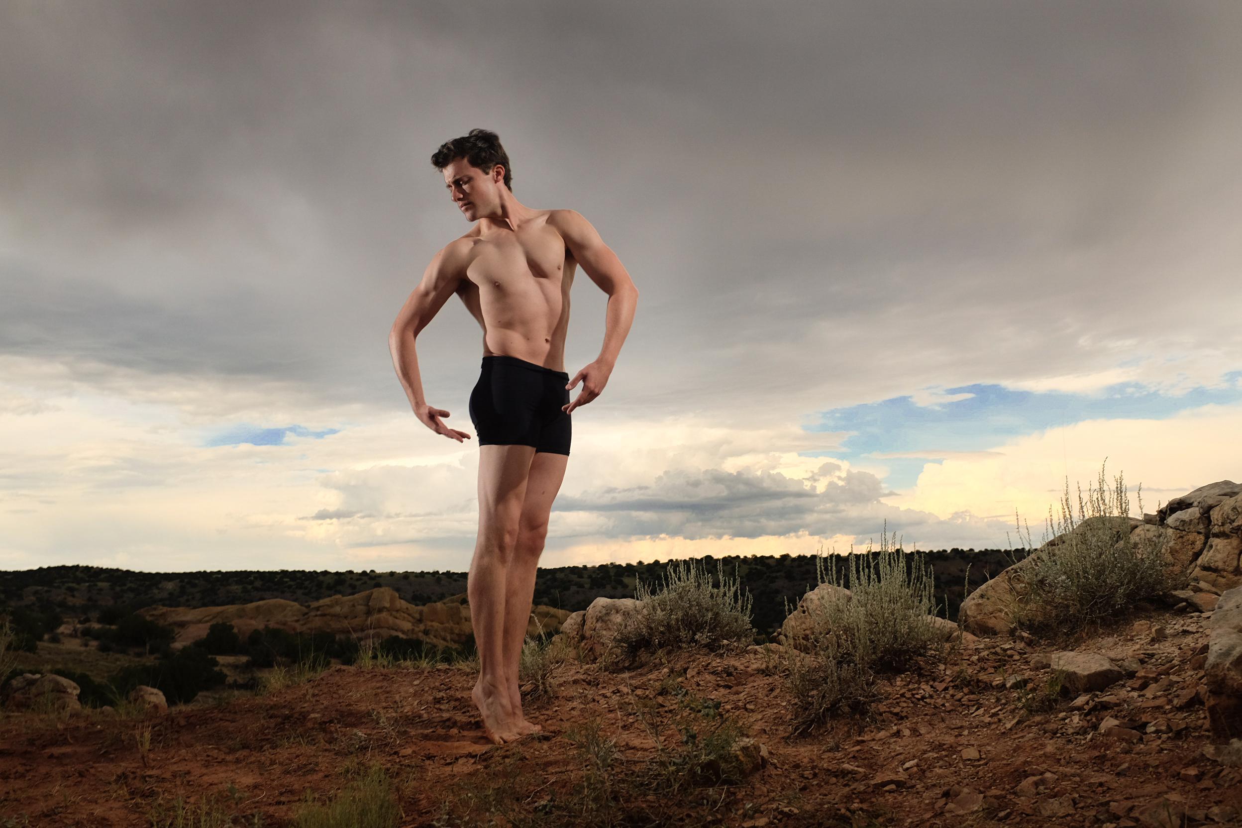 Jesse in Santa Fe desert