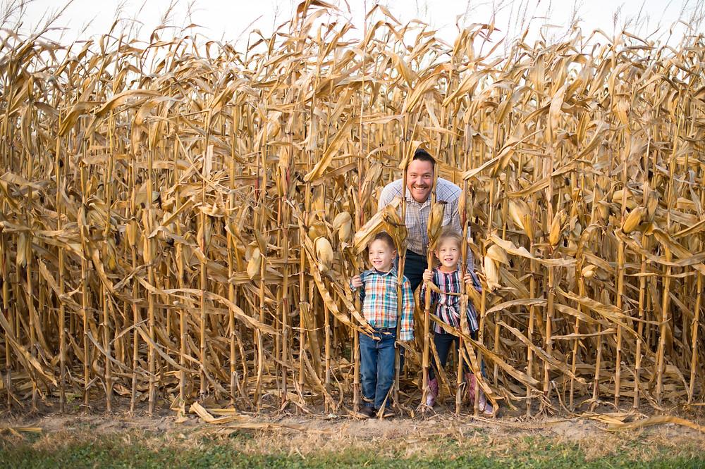 Framed by corn