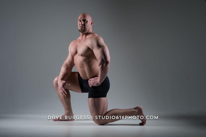 John Pitsch kneeling pose