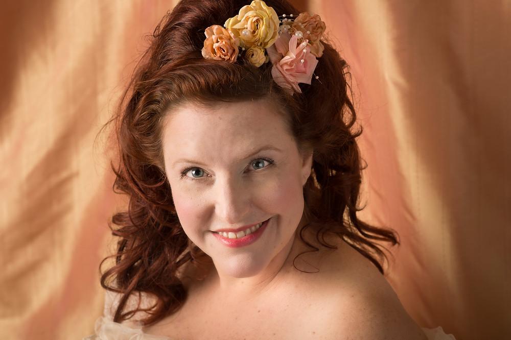 Lovely redhead Christine smiling