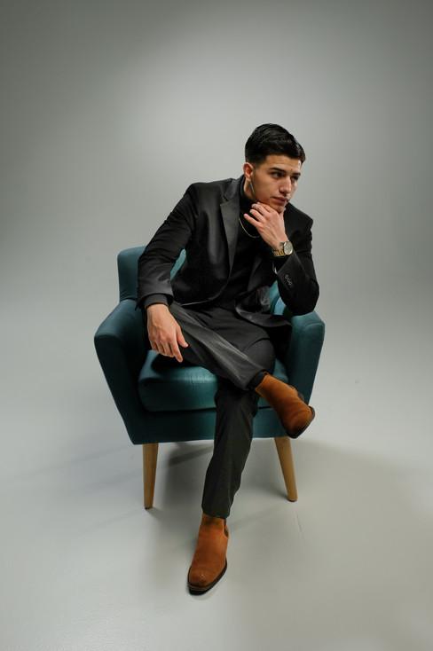 Seated model Bryan