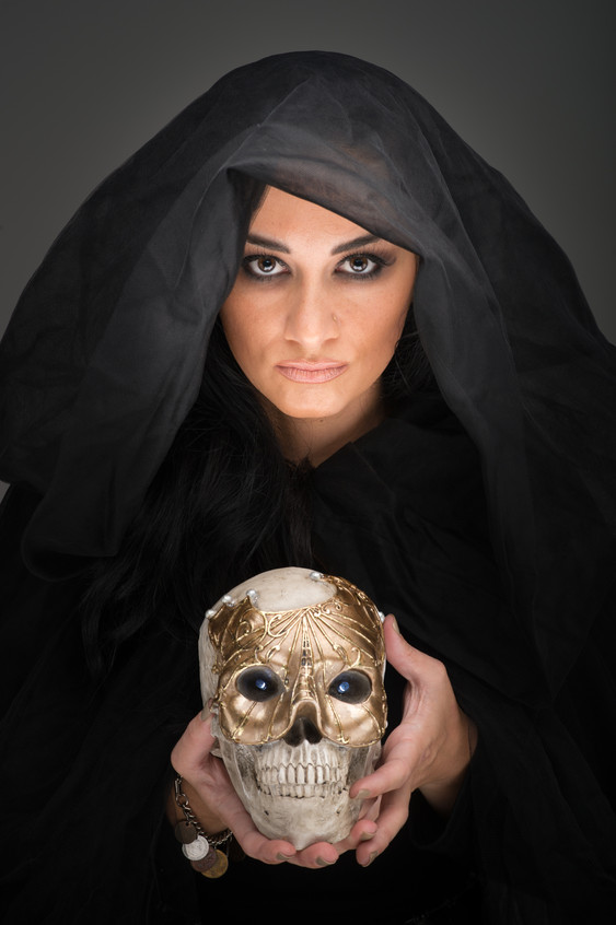 Tara with Skull