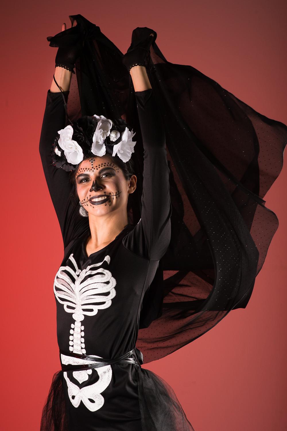 Sarah with black veil