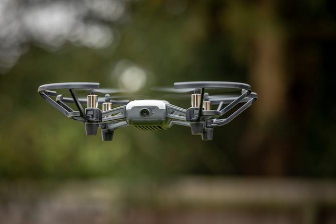 Cute little Tello drone in flight