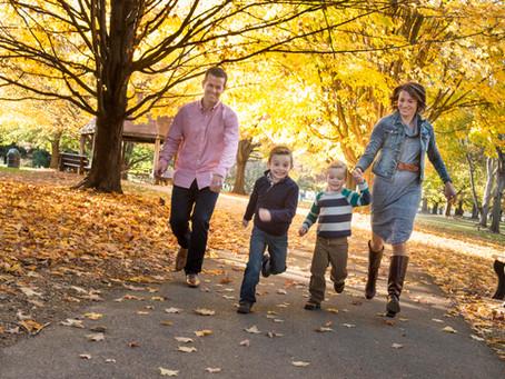 Family Outdoor Autumn Portrait