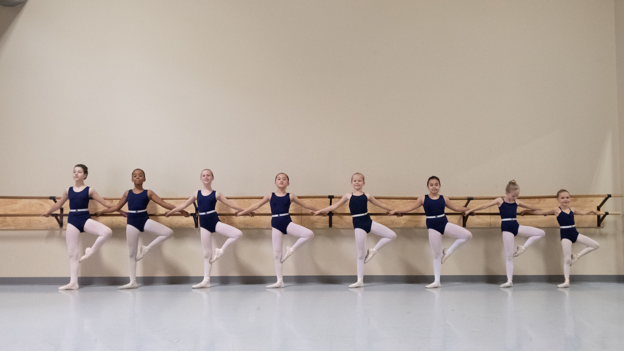 Lineup at the barre