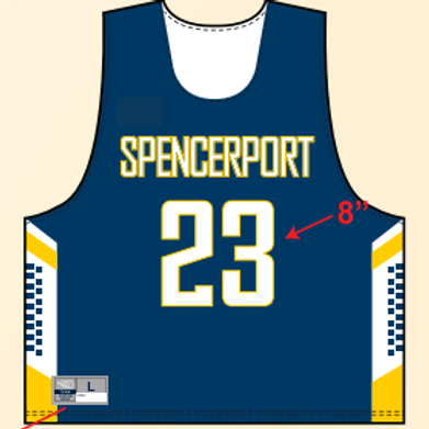 Spencerport Boys Lax Pinnie