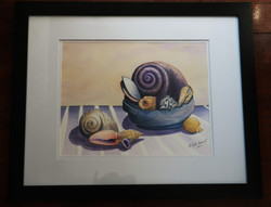 watercolour, _Still Life with Shells_.jp