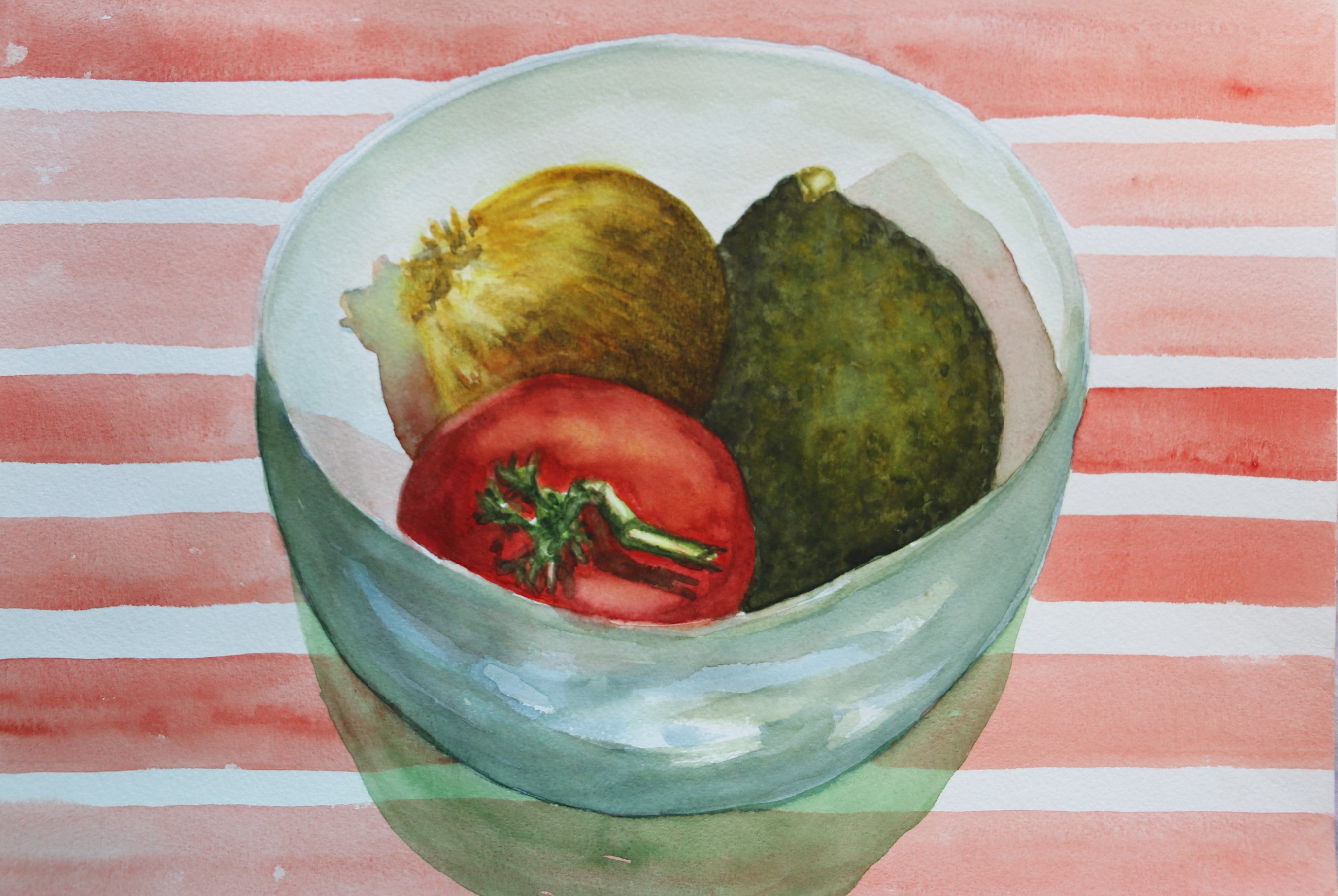 Still Life Bowl with Tomato