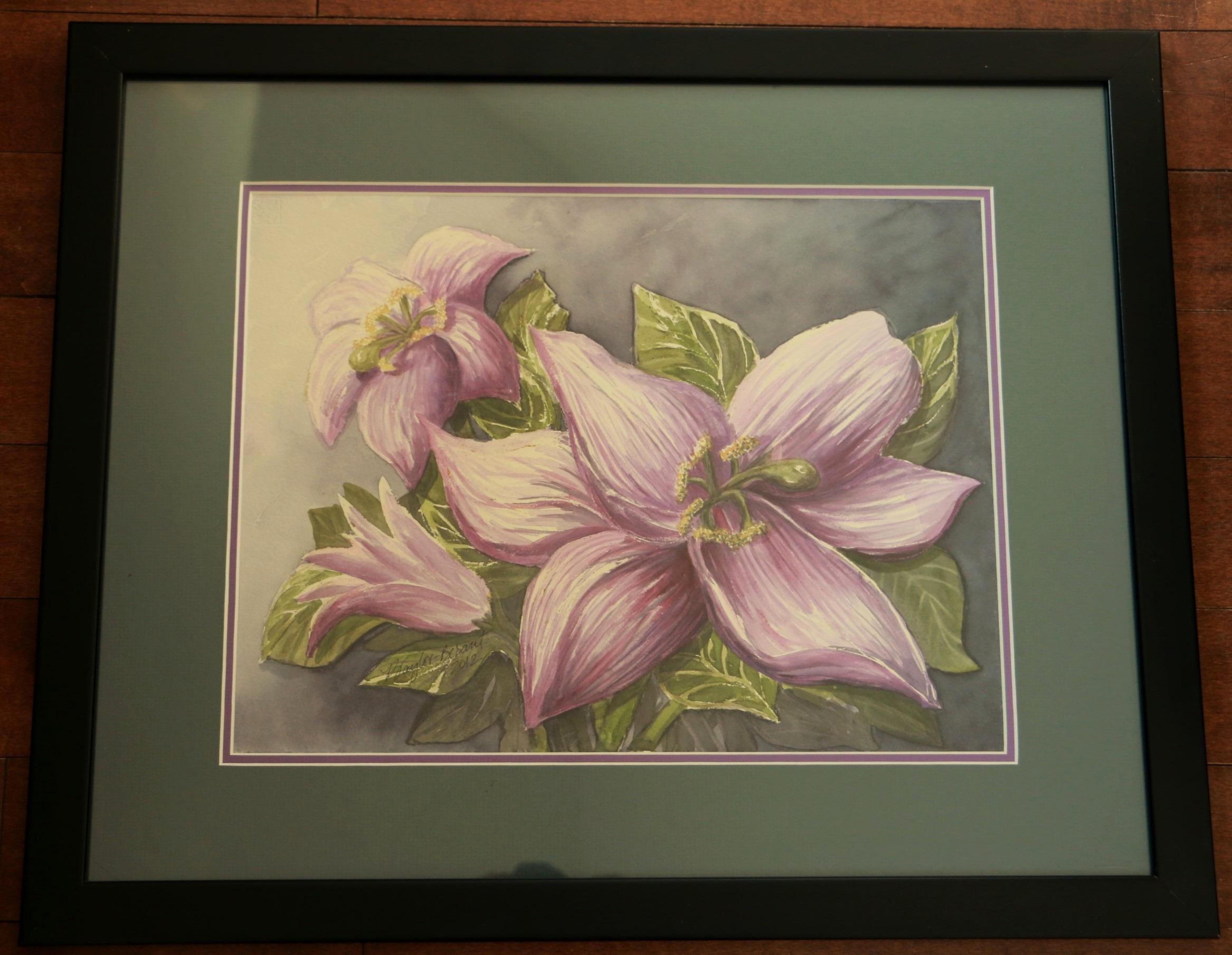 Purple Lily Trio