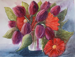Tulips and Gerberas