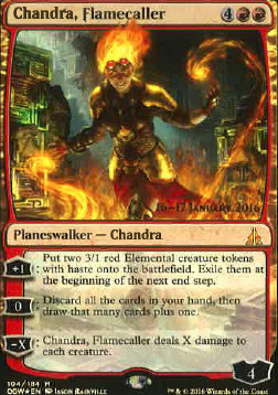 Chandra, Flamecaller (Prerelease Foil / Oath of the Gatewatch - Japanese)
