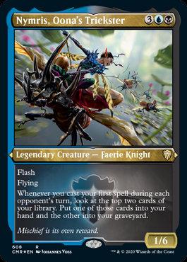 Nymris, Oona's Trickster (Etched Foil / Commander Legends)