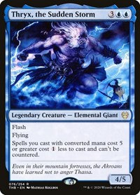 Thryx, the Sudden Storm (Foil / Stamped / Theros Beyond Death)