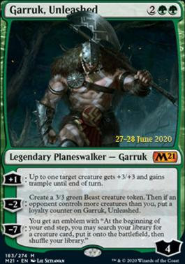Garruk, Unleashed (Prerelease Foil - CoreSet 2021)