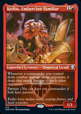 Kediss, Emberclaw Familiar (Etched Foil / Commander Legends)