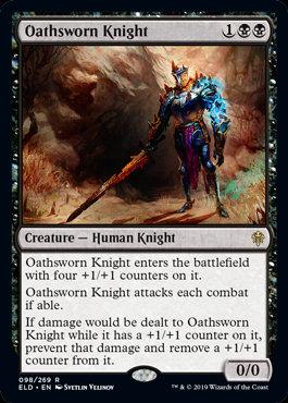 Oathsworn Knight (Foil / Stamped / Throne of Eldraine)