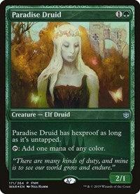 Paradise Druid (Foil / Alt Art / War of the Spark)