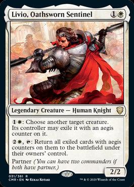 Livio, Oathsworn Sentinel (Foil / Commander Legends)